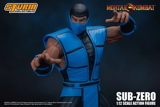 擅長使用冰凍能力的忍者!STORM COLLECTIBLES《真人快打》絕對零度 Sub-Zero(SUB-ZERO - MORTAL KOMBAT ACTION FIGURE)