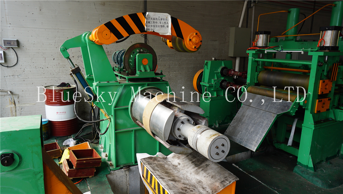 ss slitting machine hydraulic snubber roll