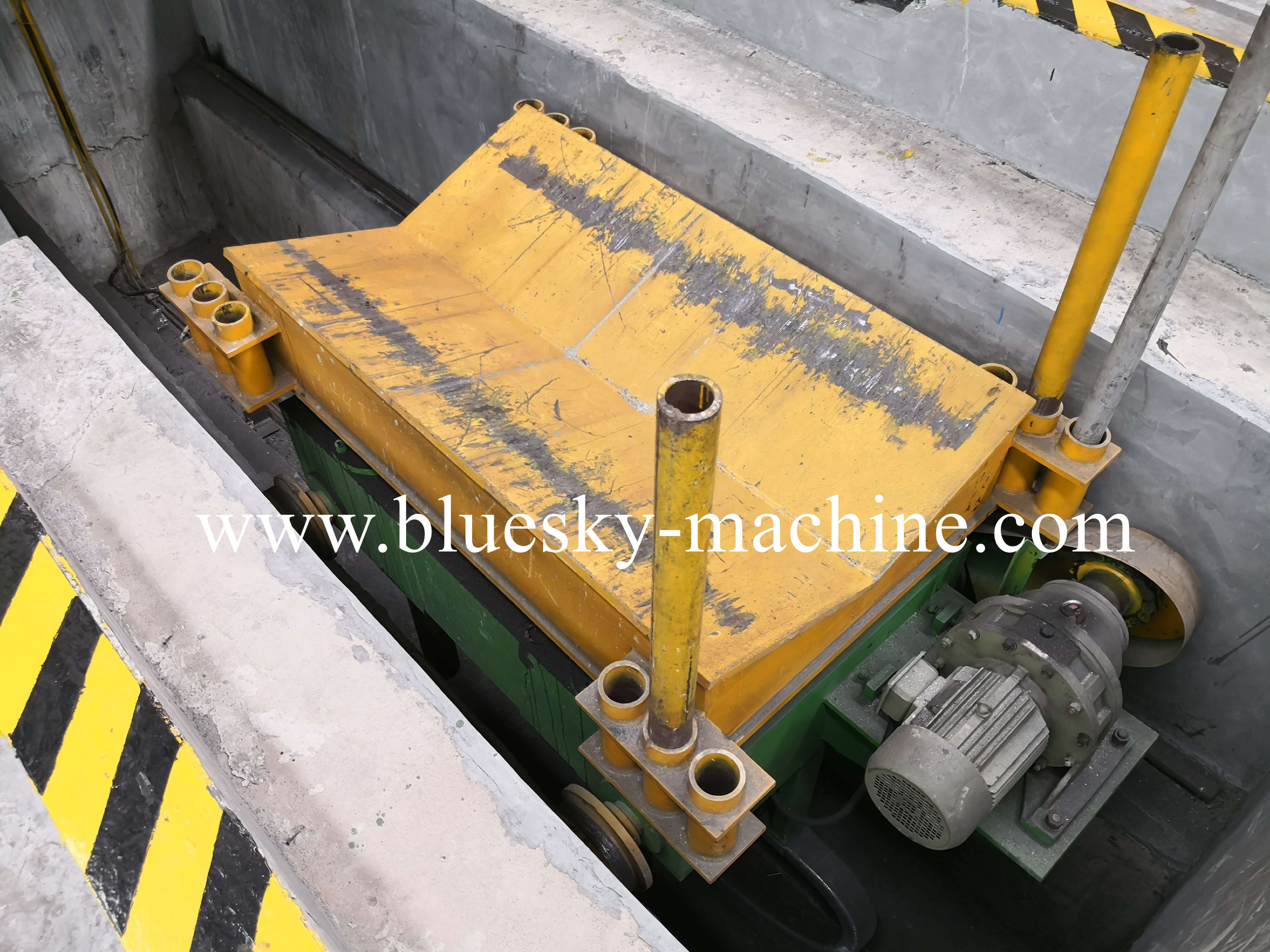 slitting machine hydraulic unloading coil car