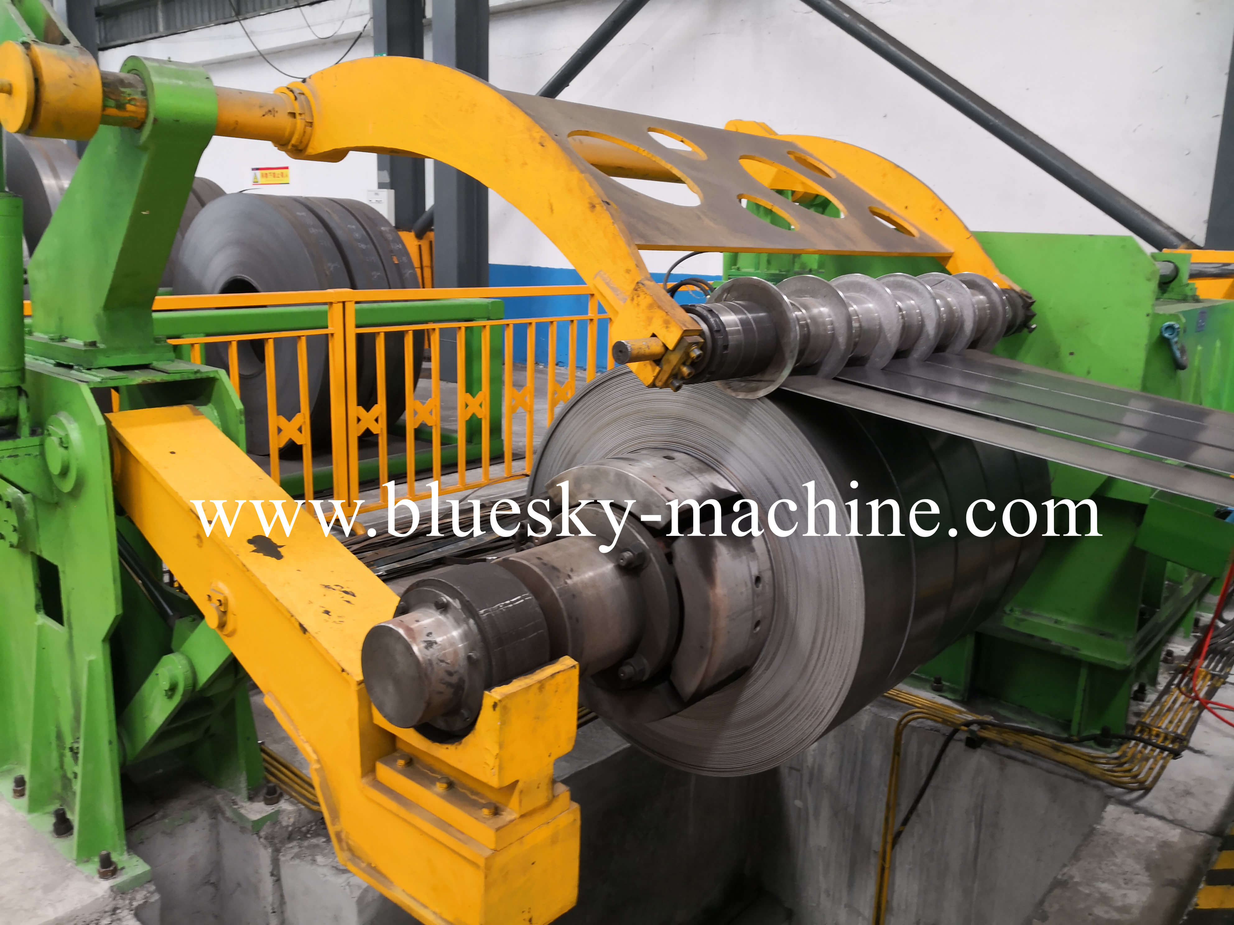 coil slitting and rewinding machine recoiler