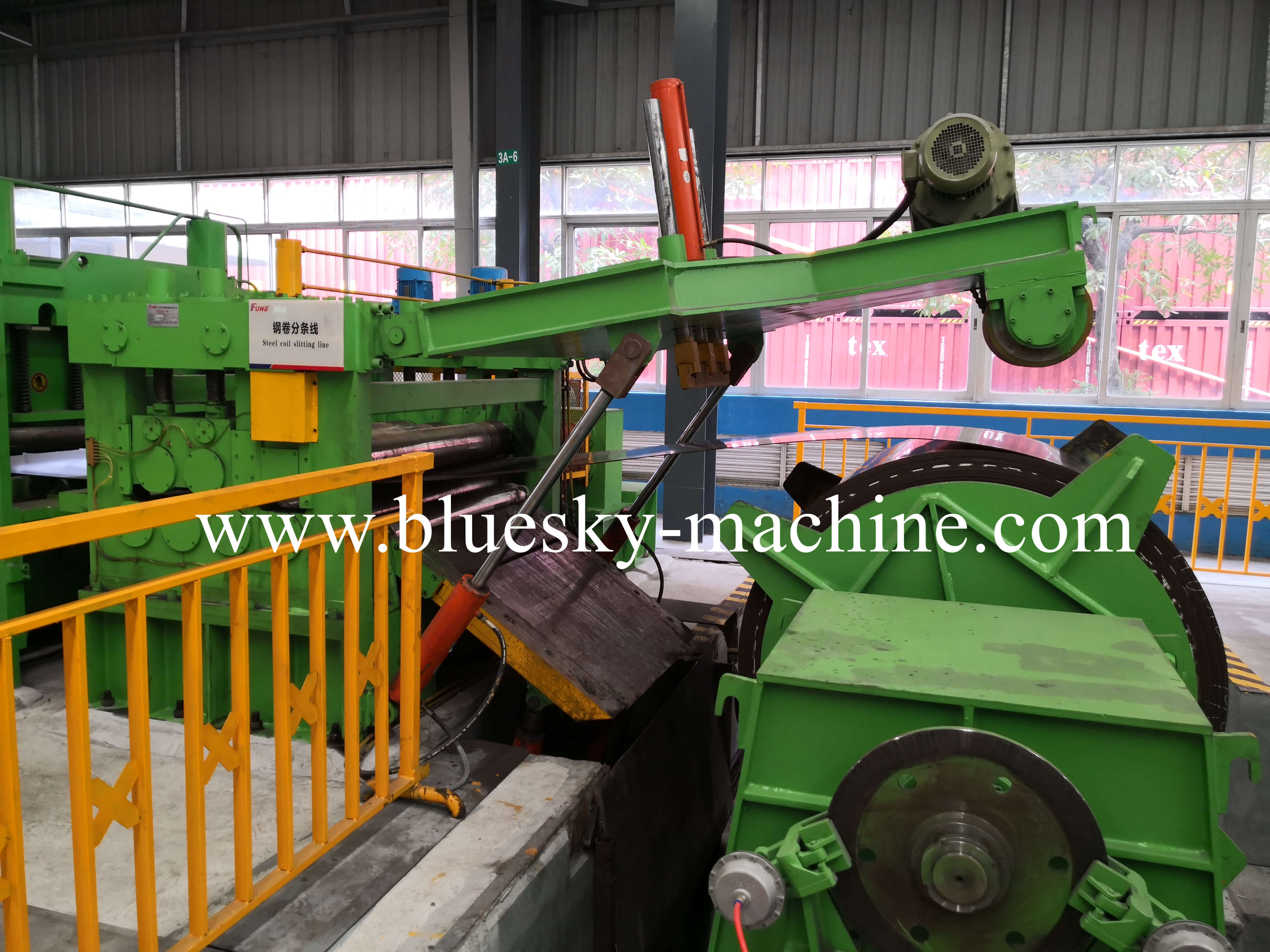 coil slitting and rewinding machine hydraulic snubber roll