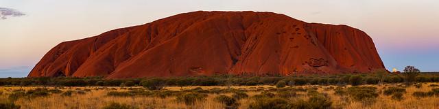 Uluru Sunset with Moon Rise