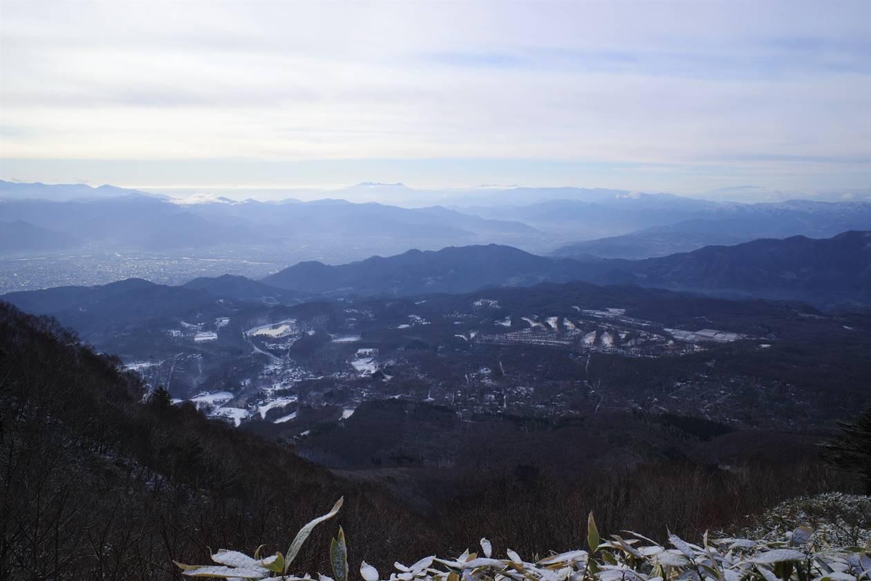 飯縄山から眺める長野市街地方面の展望