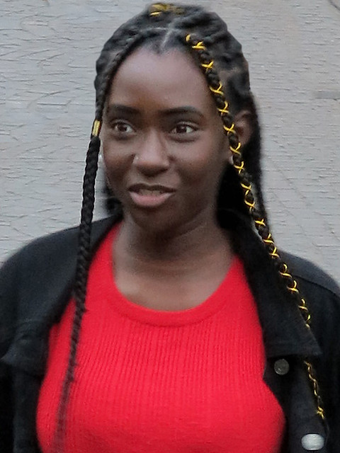 Portrait of a black young girl