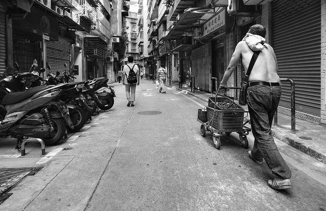 In the streets of old Macau