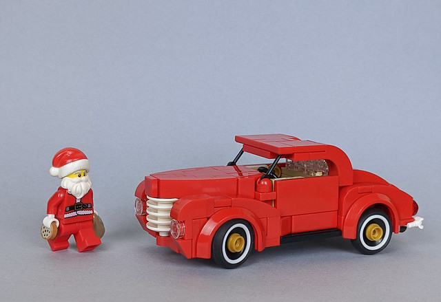 Santa's chopped '40 Ford Coupe