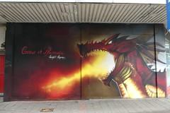 Peaceful Progress graffiti, Cardiff