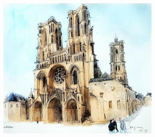 Laon - France - cathédrale gothique ( XII-XIIIe)