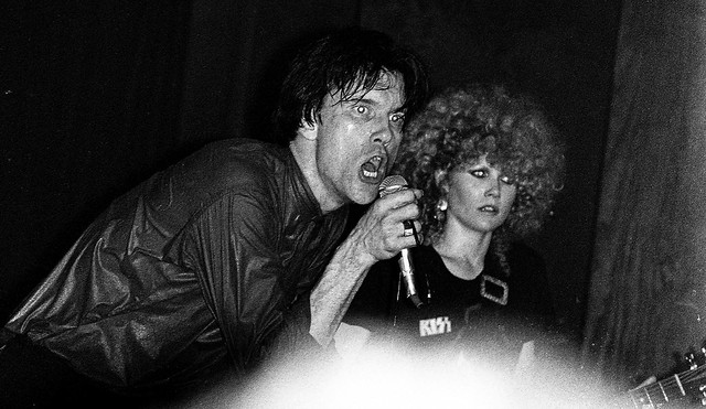 The Cramps, Lux Interior and Poison Ivy,  Club 57 NYC, 6/1979