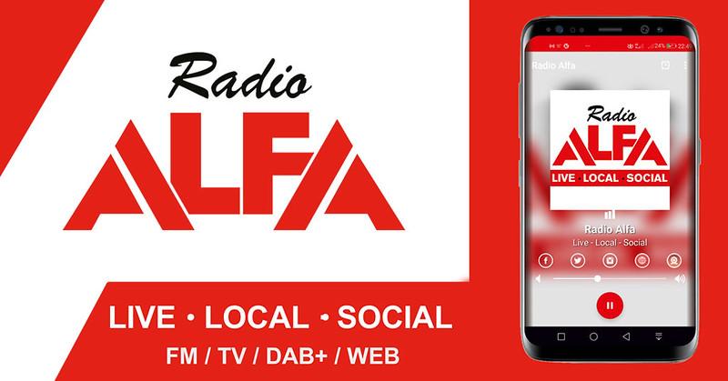 La nuova APP di Radio Alfa per IOS e Android