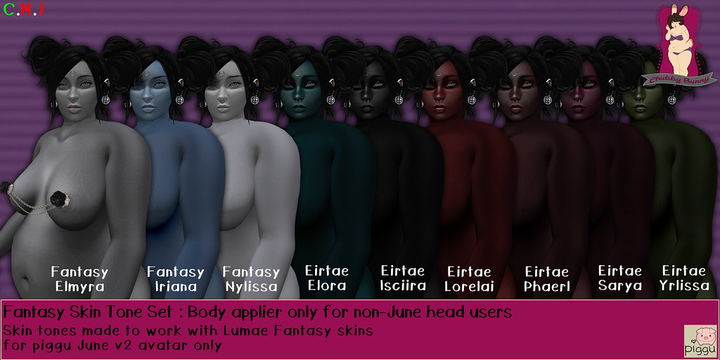CB Fantasy Skins for matching Lumae head skin appliers