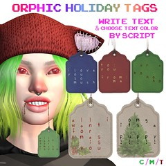 Orphic Holiday Tags - The Trunk Show Exclusive