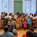Fijian Choir singing at the Harris Museum, Preston