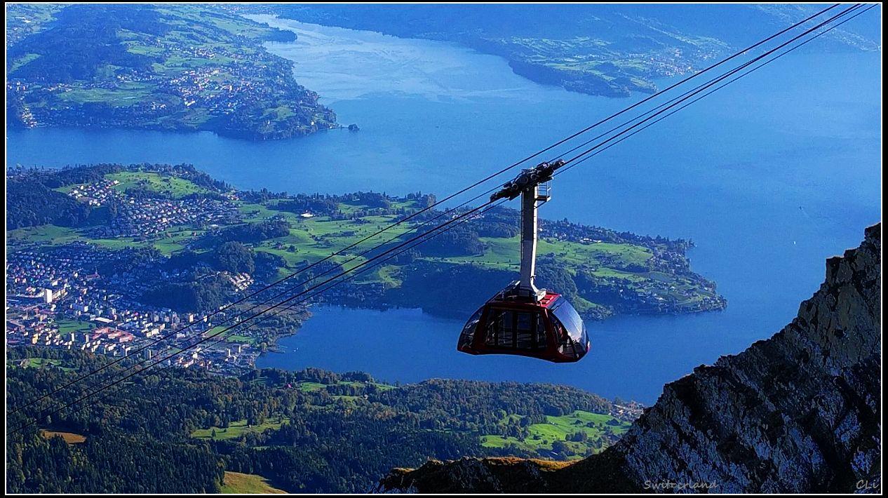 秋游欧洲4瑞士绝佳峰景 卢塞恩Pilatus山顶旅馆绚丽日出