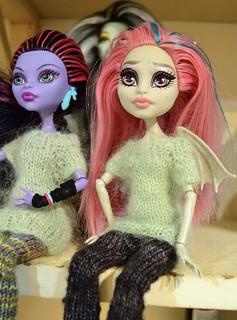 Free Monster High Leggings Knitting Pattern