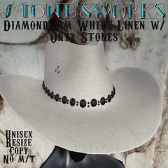 Diamond Jim WhiteLinen Onyx CB Hat Stone's Works
