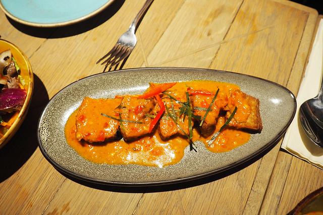 Crispy pork belly in a spicy sauce, Phranakhon Thai Tapas, York