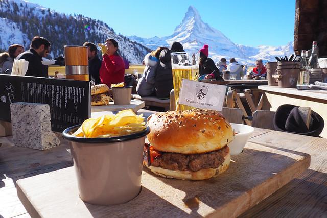 Vrony Burger at Chez Vrony, Zermatt, Switzerland