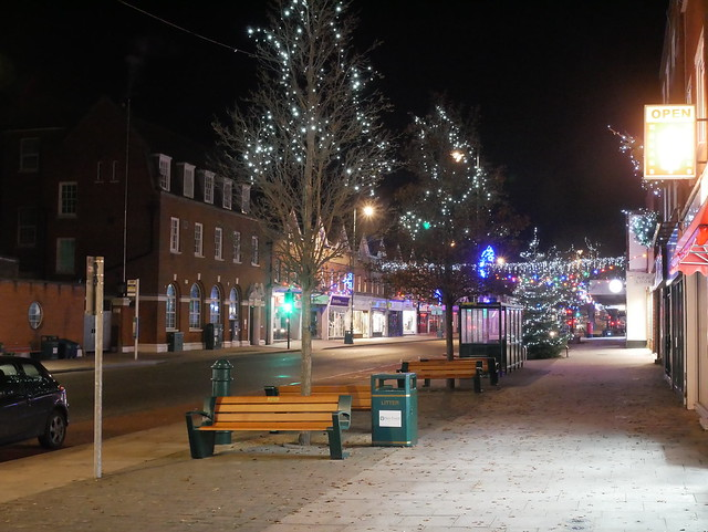 New milton high street Christmas lights