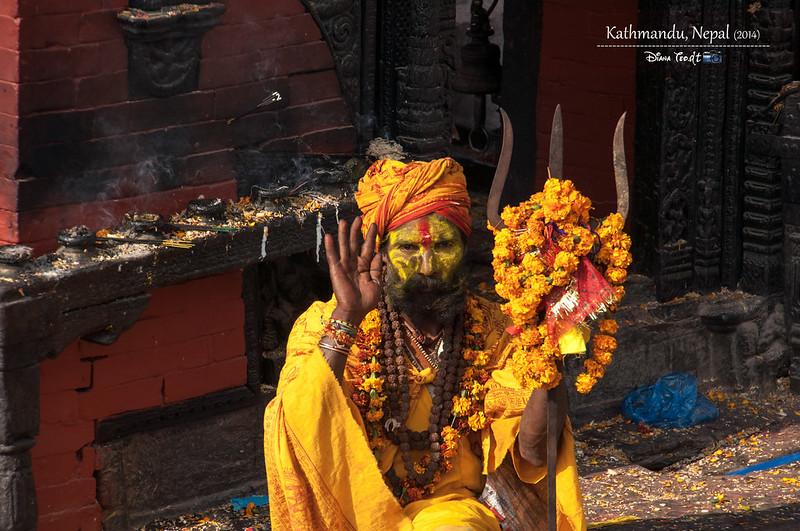 2014 Nepal Kathmandu Sadhu 1