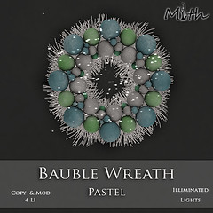 Bauble Wreath Pastel