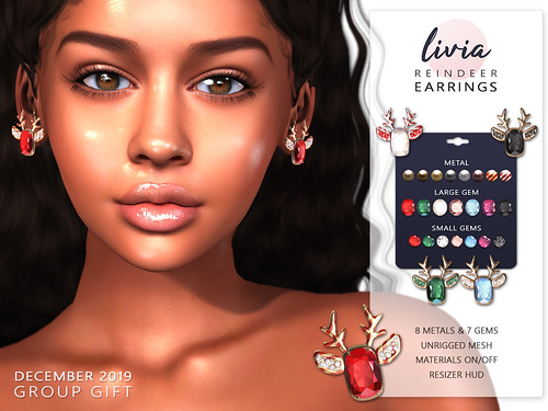 LIVIA // Reindeer Earrings [Dec Gift]