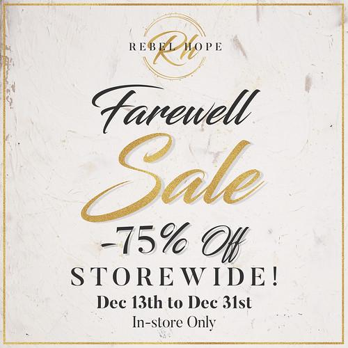 Rebel Hope Designs Closing. Farewell Sale 75%