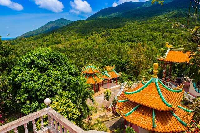 Chinese temple on the Thai island of Koh Phangan