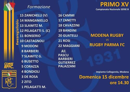 Modena vs RPFC 15.12.19