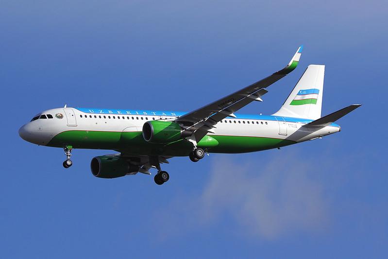 UK002(cn 8555)Airbus A320-214(WL)Government of Uzbekistan
