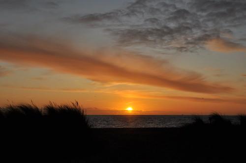 morning sunrise lowestoft beach marramgrass beachgrass clouds sunshine sky sea seashore