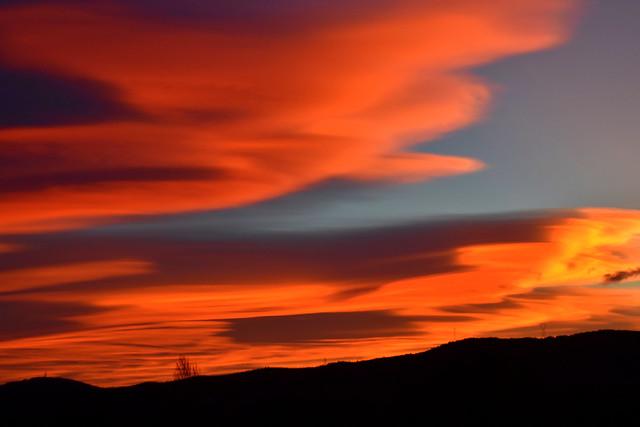 Posta de sol, el Terme, Torrelles de Foix