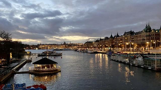Stockholm in twilight