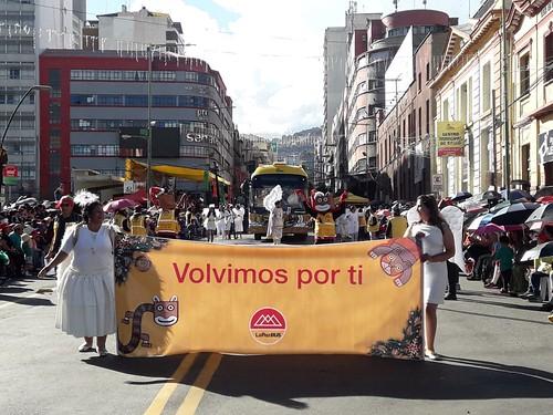 Desfile navideño en La Paz
