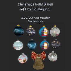 Christmas Balls & Bell