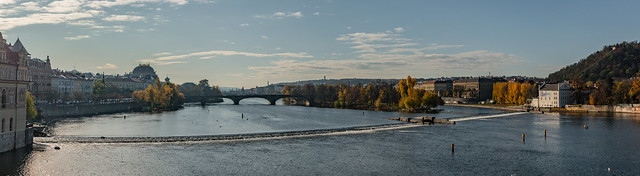 Vltava River South Of The Charles Bridge