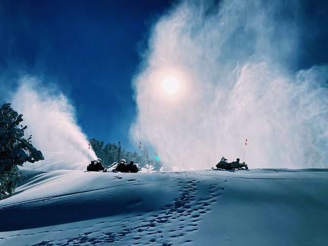 Snowmaking at Heavenly