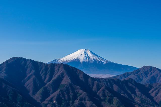 富士山と杓子山・御正体山@赤岩