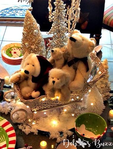 2019 polar bear frolic sleigh ride tablescape
