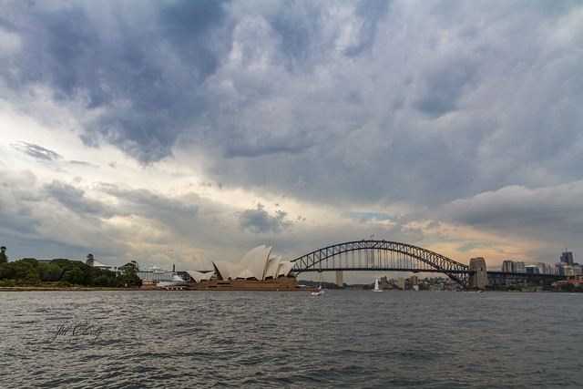 A Storm in Sydney Harbor