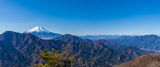 富士山~三ッ峠山@赤岩