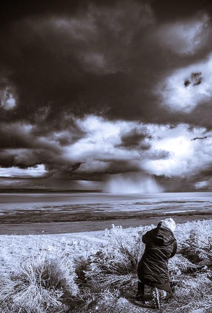Sam in storm