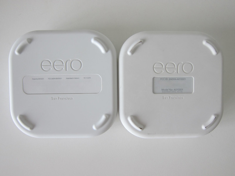 eero Pro vs eero (1st-generation) - Bottom