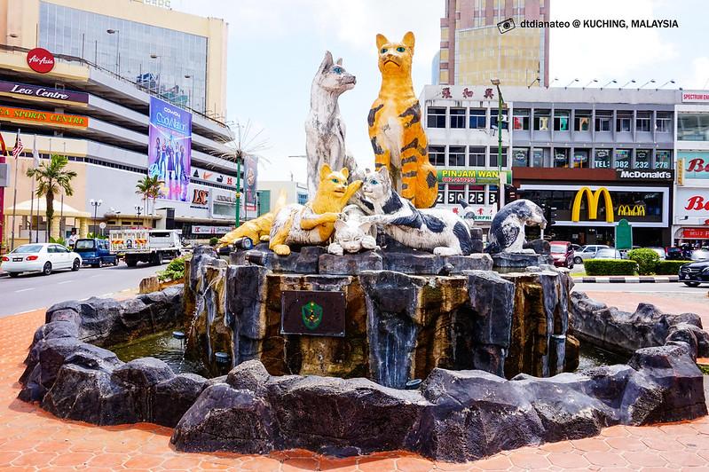 Kuching Statue Padungan Street Area