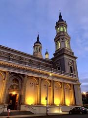 Dusk falls (St. Ignatius Catholic Church, built between 1912-1914.)