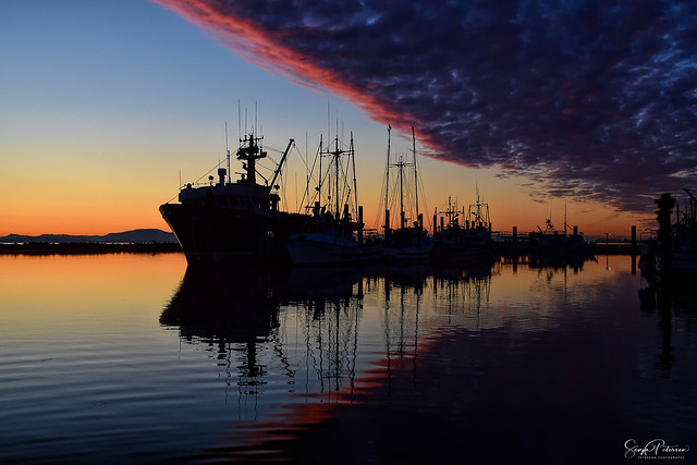 Steveston Fishing Village Harbour Sunset (Explored)