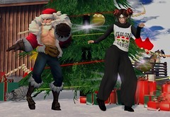 Dancing with Santa at the SL Christmas Expo