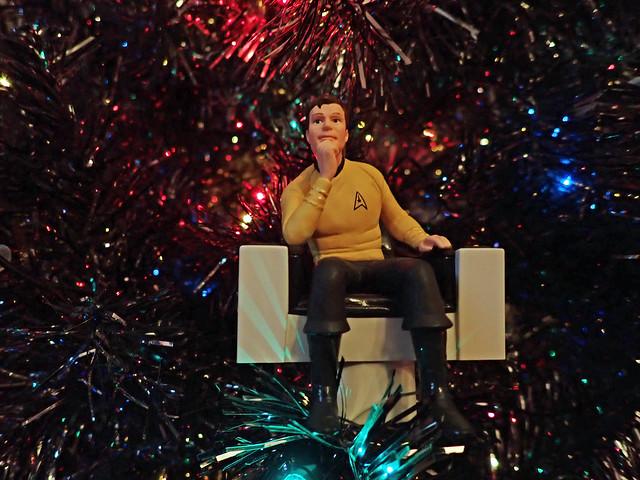 Sci-fi Christmas tree - Captain Kirk