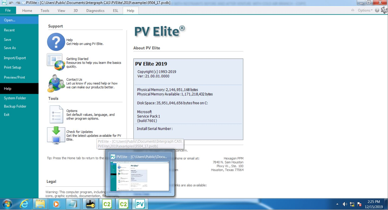 Working with Hexagon PPM COADE PV Elite 2019 SP1 v21.0.1 full license