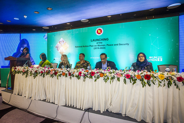 Launch of National Action Plan on Women, Peace and Security, 2019 Bangladesh